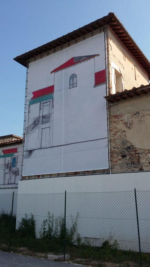 Teloni PVC per coprire edifici Pisa Livorno Lucca maxi banner