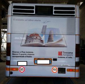 Pubblidea Srl Pisa: Adesivi pubblicitari autobus