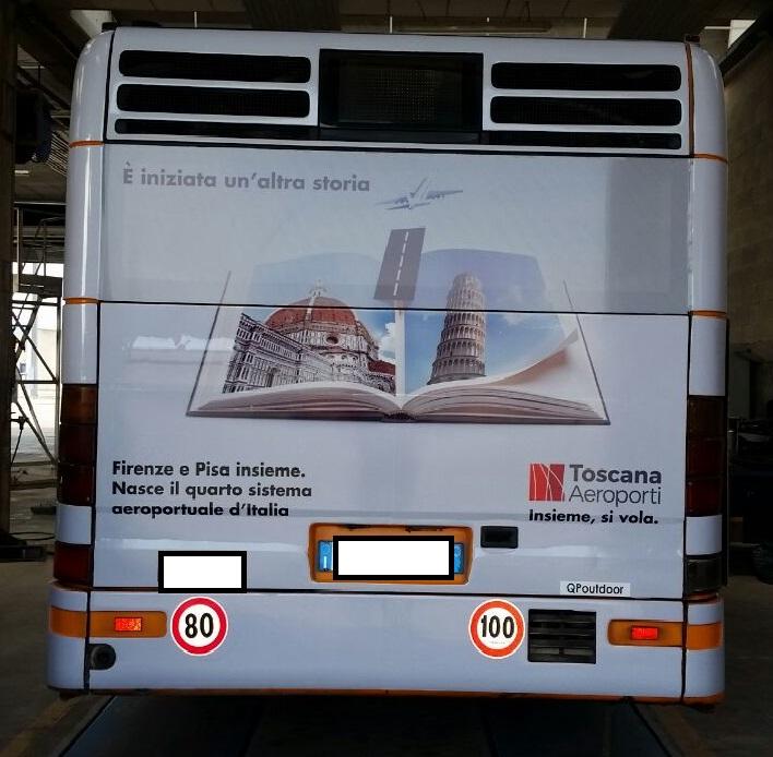 Pubblicità su autobus, pubblicità autobus cpt pisa, pubblicità autobus ctt pisa,