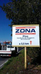Pubblidea Srl Pisa: Cartelli pubblicitari stradali