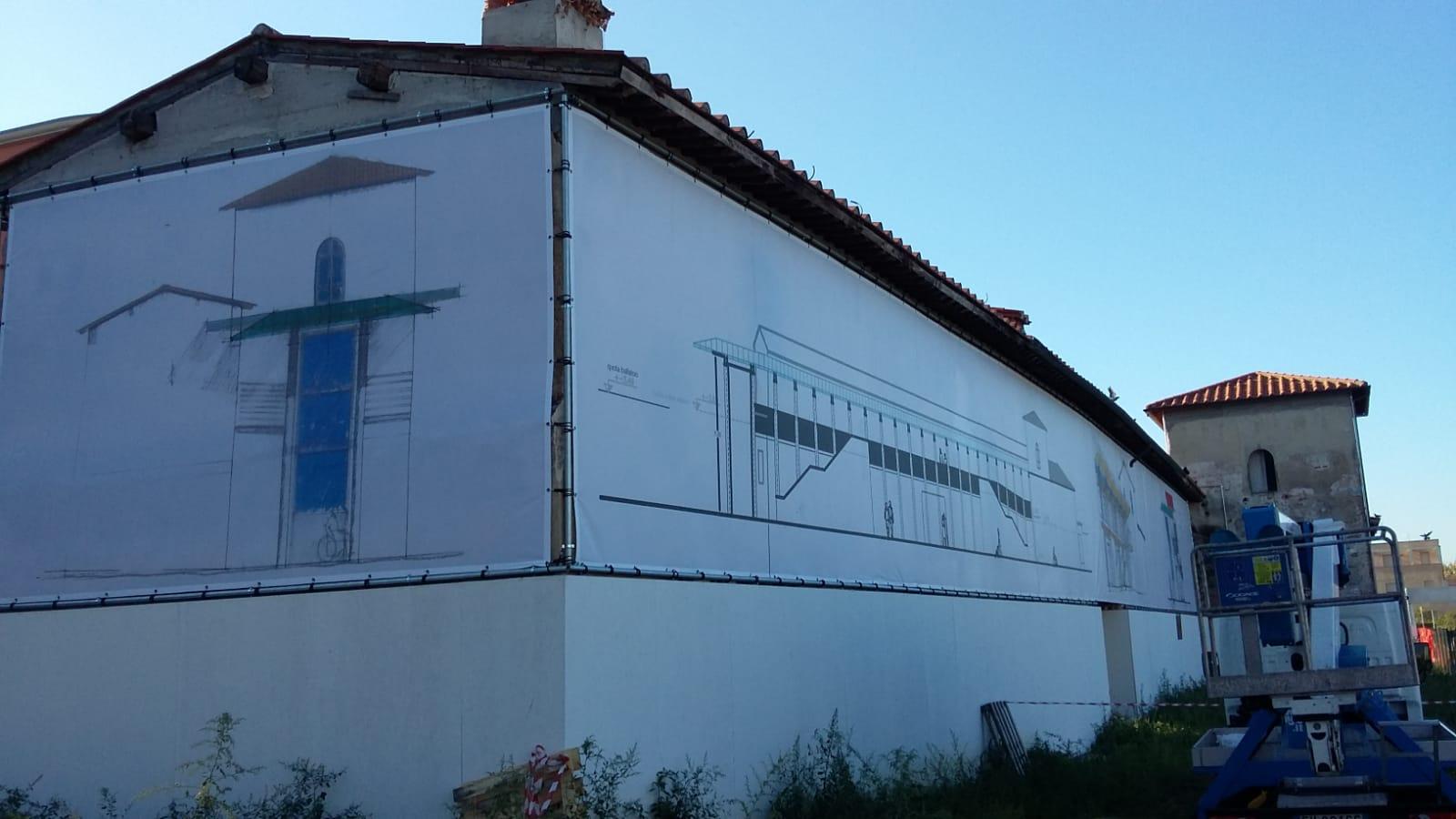 teloni PVC per copertura facciate edifici