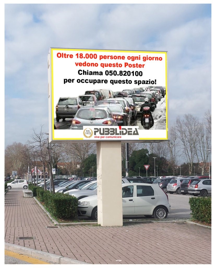 cartellone via Paparelli Pisa, via Paparelli Pisa, Poster pubblicitari Pisa, cartelli pubblicitari, cartelloni pubblicità, pubblicità su strada, Pisa pubblicità